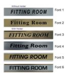 Fitting Room  Door Nameplate | slide in or fixed room sign